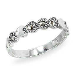 Marcasite jewelry ring HR1414 1