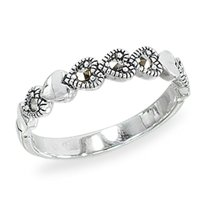 Marcasite jewelry ring HR1414 1