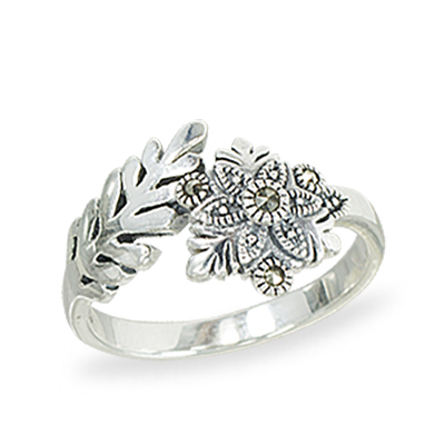 Marcasite jewelry ring HR1418 1