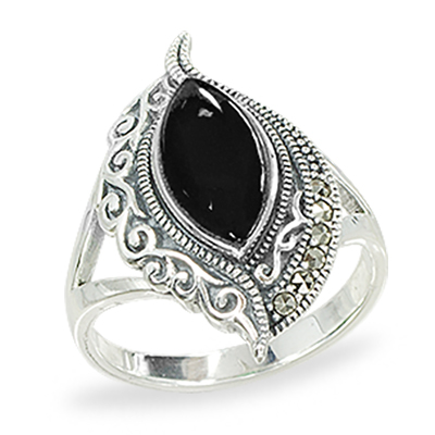 Marcasite jewelry ring HR1426 1