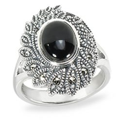 Marcasite jewelry ring HR1437 1