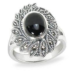 Marcasite jewelry ring HR1437 1