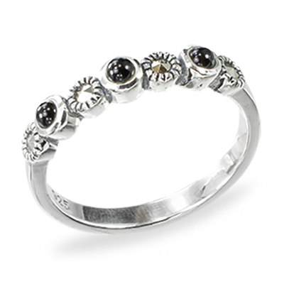 Marcasite jewelry ring HR1438 1