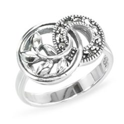 Marcasite jewelry ring HR1443 1