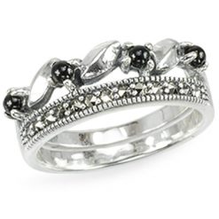 Marcasite jewelry ring HR1448 1