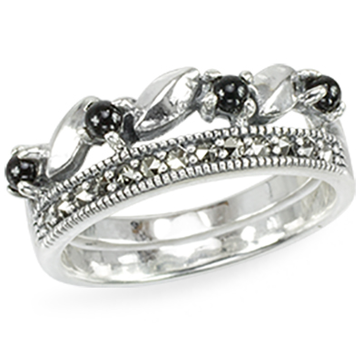 Marcasite jewelry ring HR1448 1