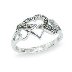 Marcasite jewelry ring HR1453 1