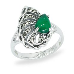 Marcasite jewelry ring HR1456 1