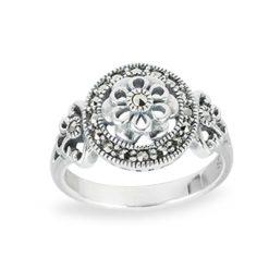 Marcasite jewelry ring HR1458 1
