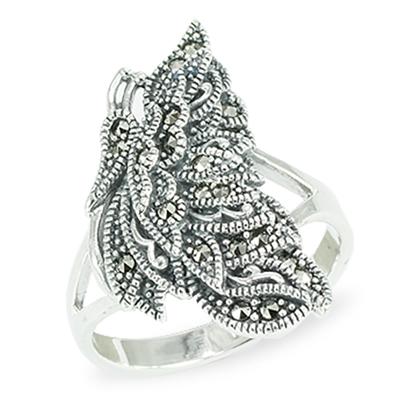 Marcasite jewelry ring HR1463 1