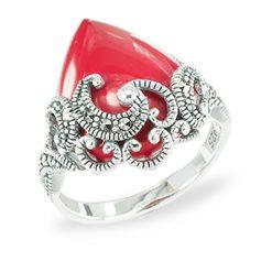 Marcasite jewelry ring HR1470 1