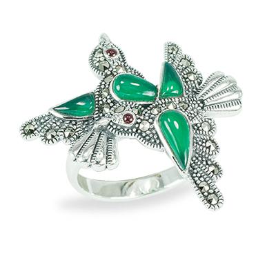Marcasite jewelry ring HR1477 1