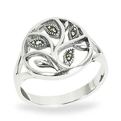 Marcasite jewelry ring HR1491 1