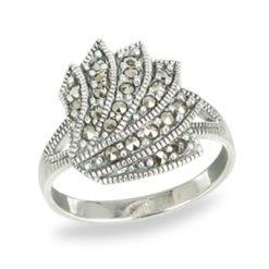 Marcasite jewelry ring HR1497 1