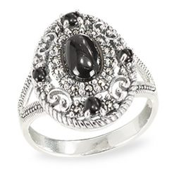 Marcasite jewelry ring HR1498 1