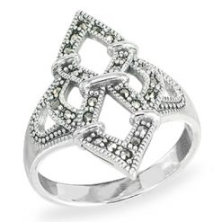 Marcasite jewelry ring HR1500 1