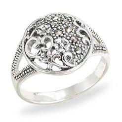Marcasite jewelry ring HR1502 1