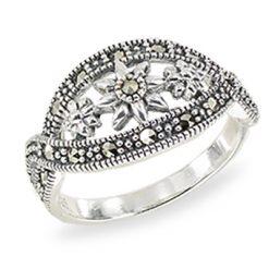 Marcasite jewelry ring HR1506 1