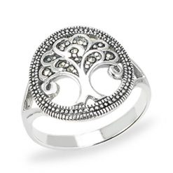 Marcasite jewelry ring HR1542 1