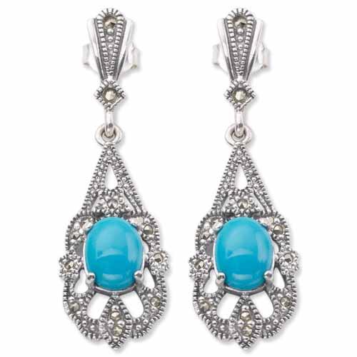 marcasite earring HE0040 1