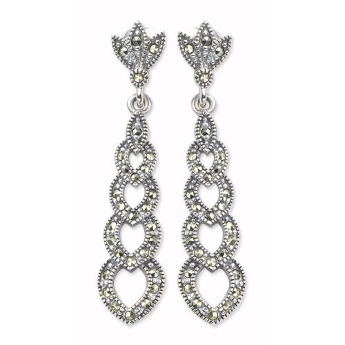 marcasite earring HE0110 1