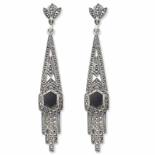 marcasite earring HE0111 1