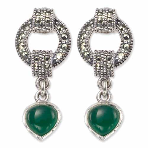 marcasite earring HE0171 1