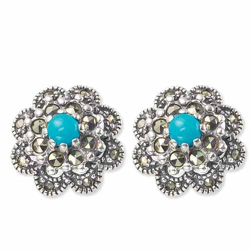 marcasite earring HE0228 1