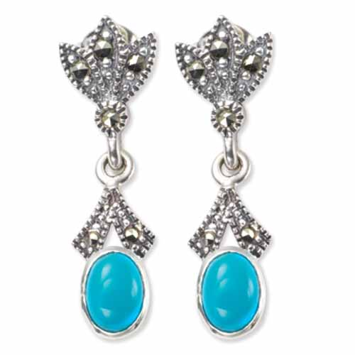 marcasite earring HE0330 1
