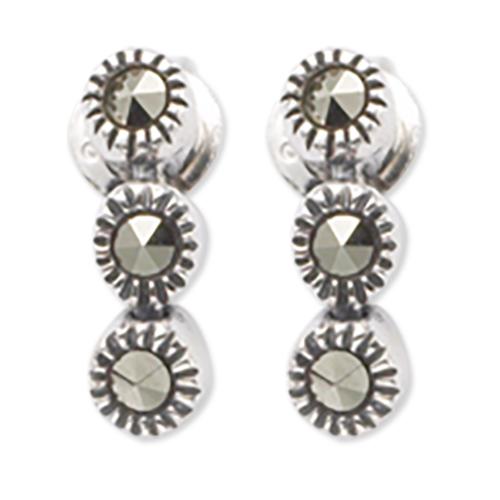 marcasite earring HE0361 3L 1