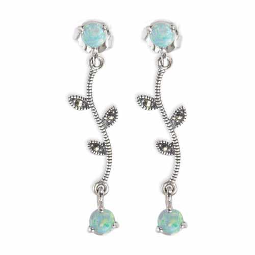 marcasite earring HE0424 1L 1