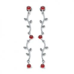 marcasite earring HE0424 2L 1