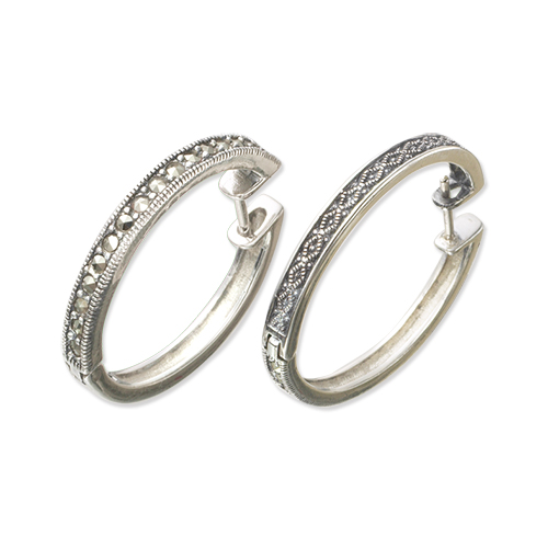 marcasite earring HE0432 L 1