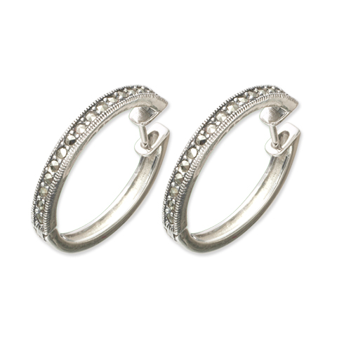 marcasite earring HE0432 S 1