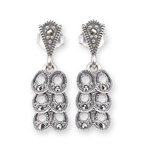 marcasite earring HE0582 1