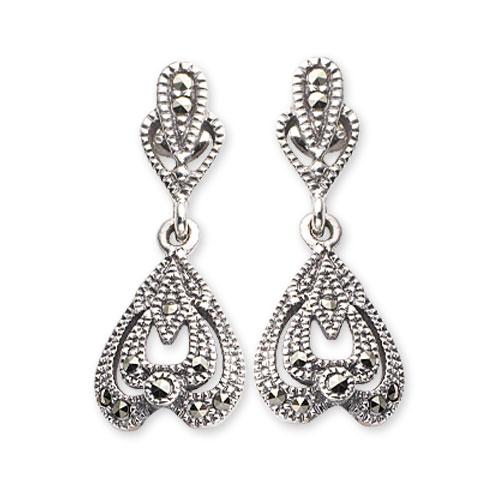 marcasite earring HE0590 1