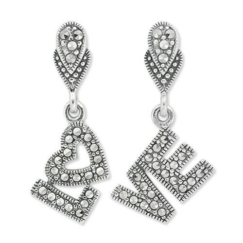 marcasite earring HE0761 1
