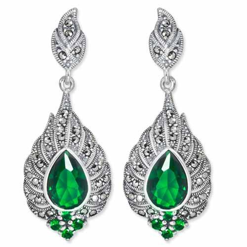 marcasite earring HE0826 1