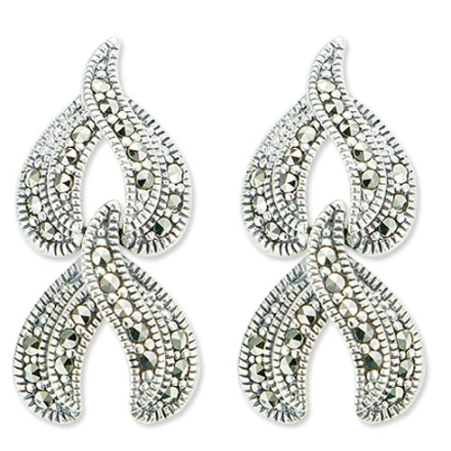 marcasite earring HE0875 2L 1