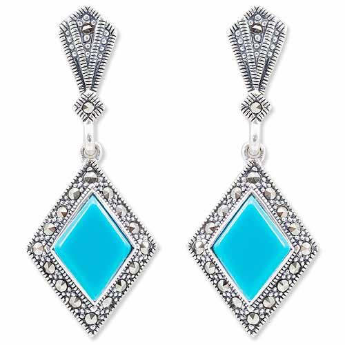 marcasite earring HE0940 1