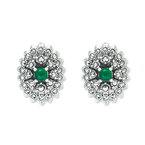 marcasite earring HE1007 1