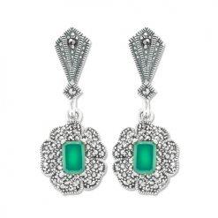 marcasite earring HE1040 1