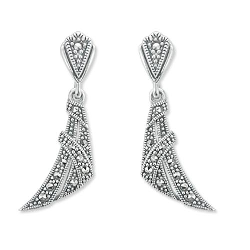 marcasite earring HE1102 1