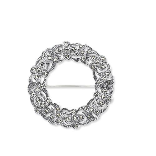 marcasite brooch HB0180 1