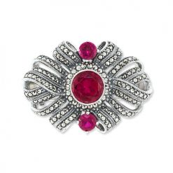 marcasite brooch HB0529 1