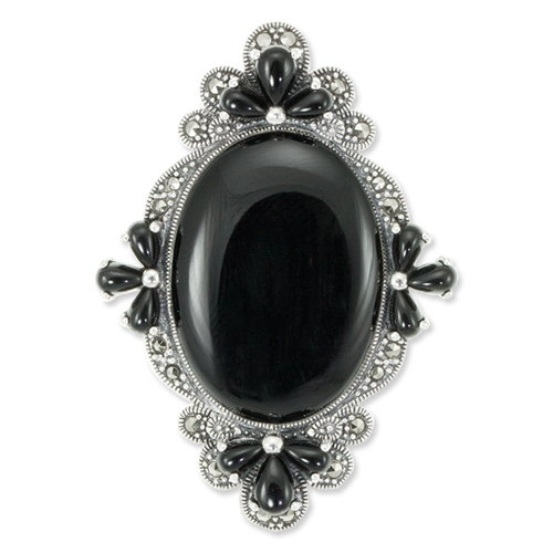 marcasite brooch HB0565 1