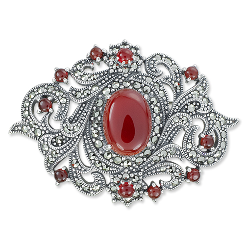 marcasite brooch HB0667 1
