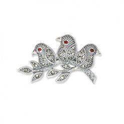 marcasite brooch HB0705 1