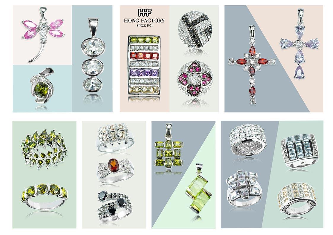 Silver Jewelry with cubic zirconia cz