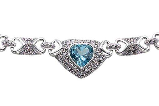 Marcasite necklace NE0030 1